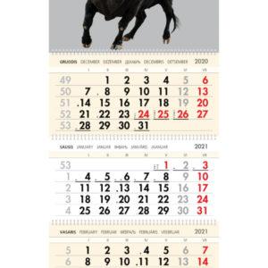 Trijų dalių sieninis kalendorius JAUTIS
