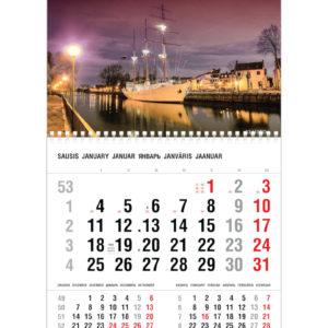 Vienos dalies sieninis kalendorius MERIDIANAS