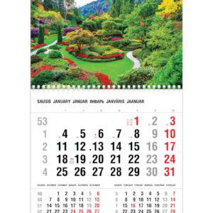Vienos dalies sieninis kalendorius PARKAS