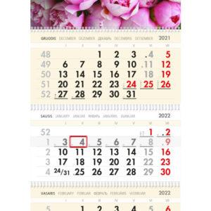 Trijų dalių sieninis kalendorius BIJŪNAI