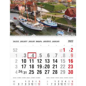 Vienos dalies sieninis kalendorius KLAIPĖDA