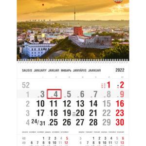 Vienos dalies sieninis kalendorius VILNIUS